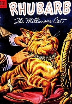 (Dell) Cover for Rhubarb (Four-Color) #563 'The Millionaire Cat'