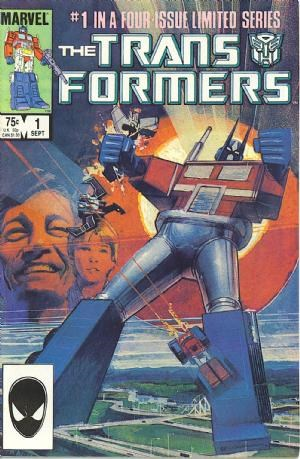 (Marvel) Cover for Transformers #1 Started as a 4 issues mini series. Direct Edition