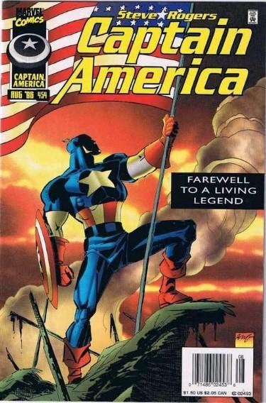 Comic Cover for Captain America (#454)