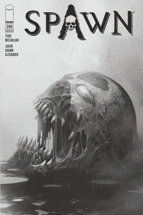 (Image) Cover for Spawn #288 Francesco Mattina B&W Variant Cover