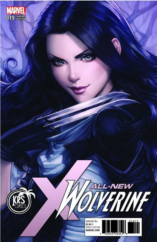 """(Marvel) Cover for All-New Wolverine #19 KRS Comics Exclusive Stanley """"Artgerm"""" Lau Variant Limited to 2500"""