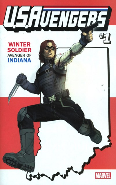 (Marvel) Cover for U.S.Avengers #1 Rod Reis Indiana State Variant Cover