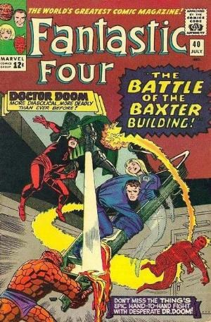 (Marvel) Cover for Fantastic Four #40 Classic: 'The Battle Of The Baxter Building!'