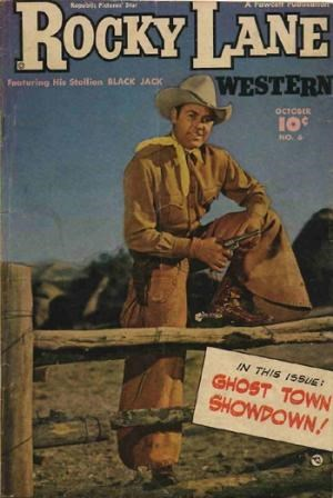 (Fawcett Publications) Cover for Rocky Lane Western #6