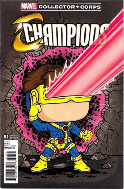 (Marvel) Cover for Champions #1 Marvel Collector Corps Exclusive Funko! Pop Cyclops Variant Cover