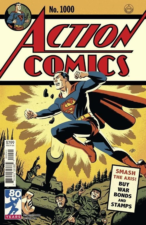 (DC) Cover for Action Comics #1000 Michael Cho 1940s Variant Cover