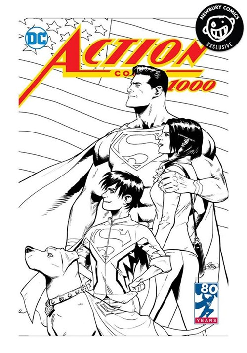 (DC) Cover for Action Comics #1000 Newbury Comics Exclusive Patrick Gleason B&W Variant Cover Limited to 1000