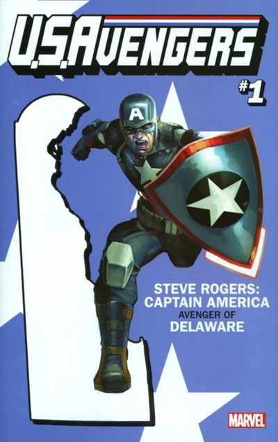 (Marvel) Cover for U.S.Avengers #1 Rod Reis Delaware State Variant Cover