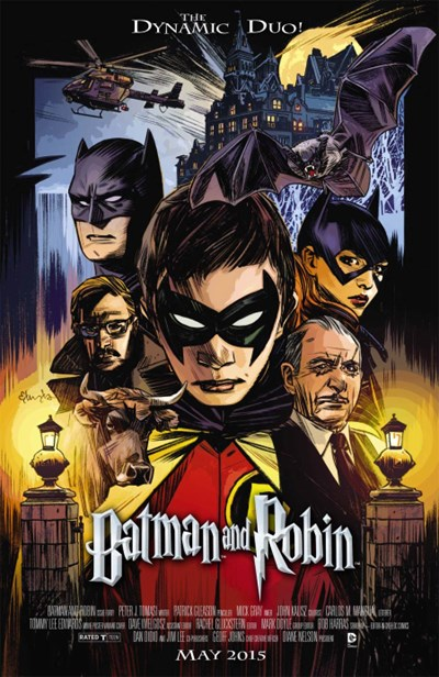 (DC) Cover for Batman And Robin #40 Tommy Lee Edwards Movie Poster Variant Cover - Harry Potter
