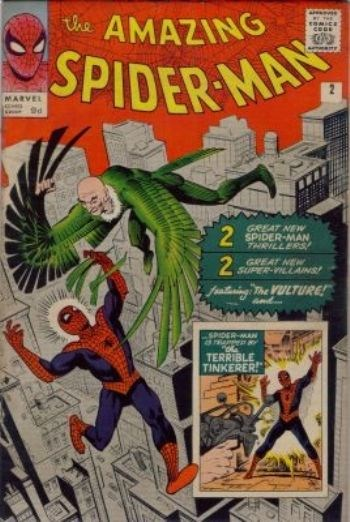 (Marvel) Cover for Amazing Spider-Man, The #2 1st Appearance of The Vulture (Adrian Toomes) and The Tinkerer (Phineas Mason)