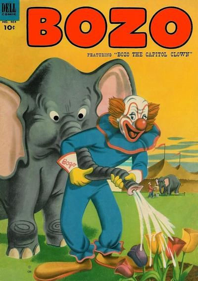 (Dell) Cover for Bozo The Clown (Four-Color) #464 Four-Color numbering.