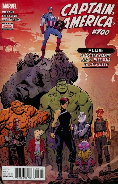 Comic Cover for Captain America (#700)