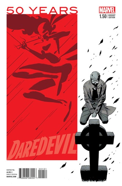 (Marvel) Cover for Daredevil #1.5 Marcos Martin 1970s Red Variant Cover