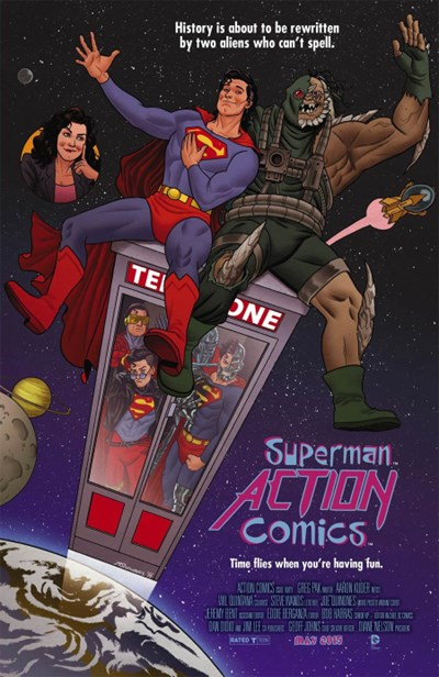 (DC) Cover for Action Comics #40 Joe Quinones Movie Poster Variant Cover - Bill and Ted's Excellent Adventure