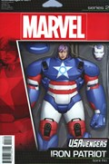 U.S.AVENGERS #1E  Variant Cover John Tyler Christopher Action Figure Variant Cover