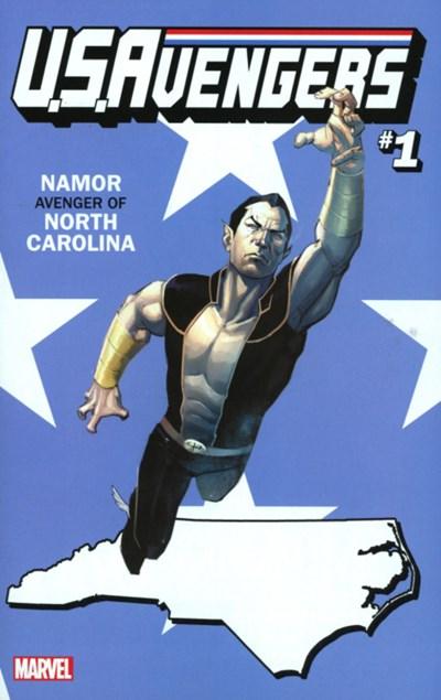 (Marvel) Cover for U.S.Avengers #1 Rod Reis North Carolina State Variant Cover