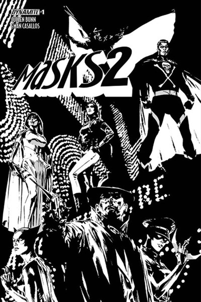 (Dynamite Entertainment) Cover for Masks 2 #1 Butch Guice Black & White Variant Cover. Limited 1 for 30.