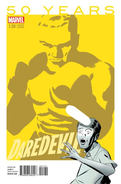 (Marvel) Cover for Daredevil #1.5 Marcos Martin 1960s Yellow Variant Cover
