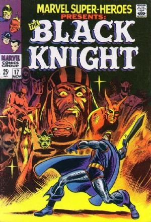 (Marvel) Cover for Marvel Super-Heroes #17 Origin of Black Knight III (Dane Whitman), Death of 1st Black Knight (Sir Percy of Scandia), John Romita Classic Cover