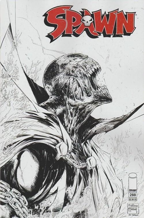 (Image) Cover for Spawn #288 Todd McFarlane & Francesco Mattina Sketch Variant Cover