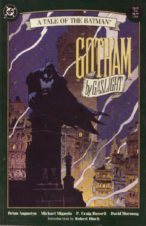 (DC) Cover for Batman: Gotham By Gaslight #1 First Elseworlds title (no logo).