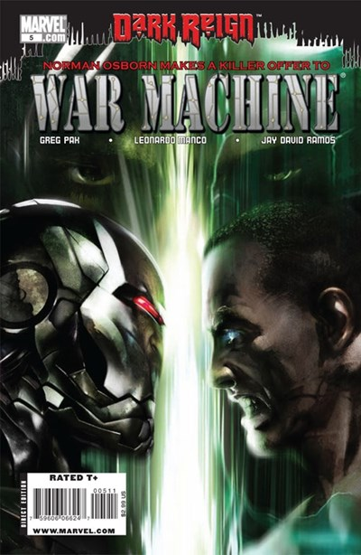 (Marvel) Cover for War Machine #5
