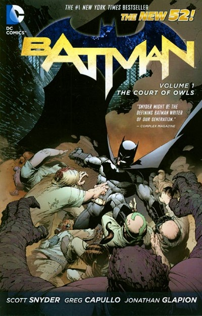(DC) Cover for Batman #1 The Court of Owls (Collects issues 1-6)