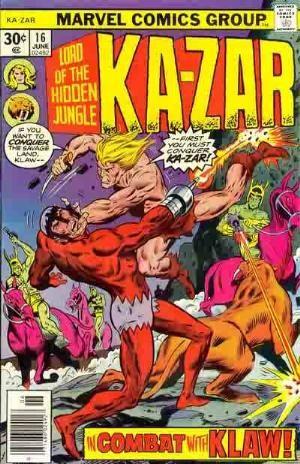 Comic Cover for Ka-Zar (#16)