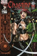 CHASTITY: ROCKED #1A  Variant Cover Crossed blades cover.