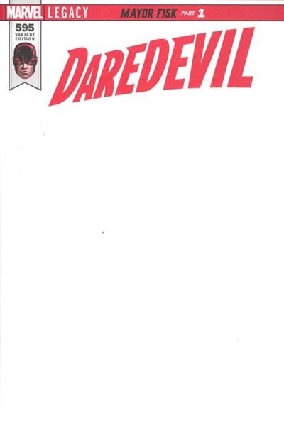 (Marvel) Cover for Daredevil #595 Blank Variant Cover