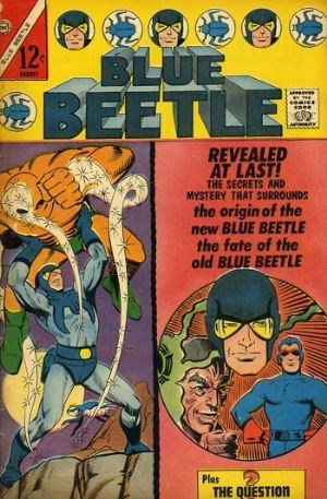 (Charlton) Cover for Blue Beetle #2 Cover-Art by Ditko/Origin of Ted Kord-Blue Beetle/Dan Garrett appearance.
