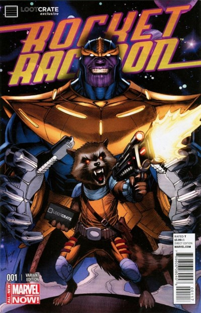 (Marvel) Cover for Rocket Raccoon #1 Loot Crate Exclusive Variant Cover