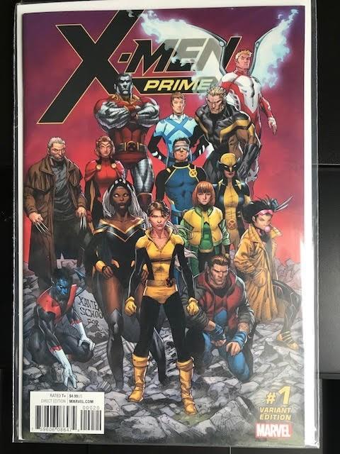 (Marvel) Cover for X-Men Prime #1 X-Men Prime #1 Walmart Variant.  Black Logo