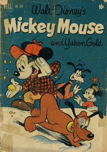 (Dell) Cover for Mickey Mouse #334 And Yukon Gold