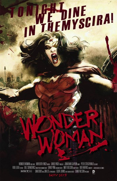 (DC) Cover for Wonder Woman #40 300 Movie Poster Variant Cover by Bill Sienkiewicz