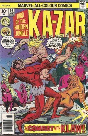 (Marvel) Cover for Ka-Zar #16 Price Variant (10 Pence)