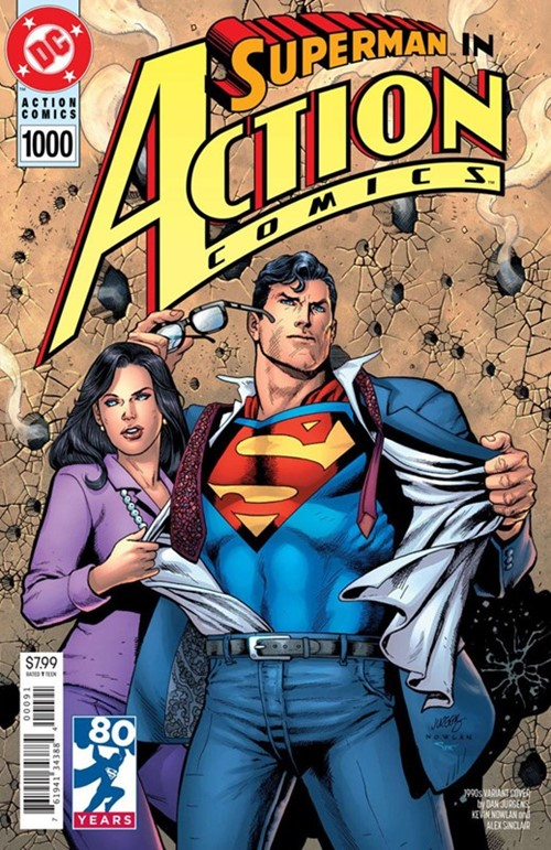(DC) Cover for Action Comics #1000 Dan Jurgens 1990s Variant Cover