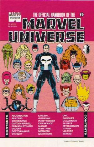Comic Cover for Official Handbook Of The Marvel Universe Master Edition (#5)