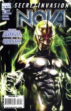 (Marvel) Cover for Nova #18 Secret Invasion Tie-In