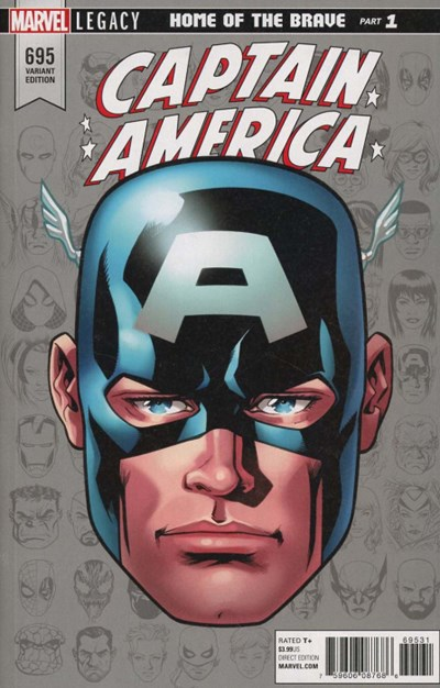 (Marvel) Cover for Captain America #695 Mike McKone Legacy Headshot Variant Cover. Limited 1 for 10.