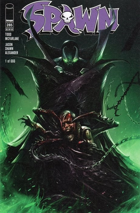 (Image) Cover for Spawn #285 Scott's Collectables 2018 MegaCon Exclusive Francesco Mattina Variant Limited to 666