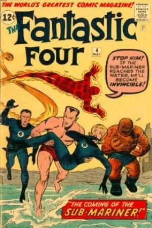 (Marvel) Cover for Fantastic Four #4 1st Silver-Age Prince Namor the (Sub-Mariner) Appearance