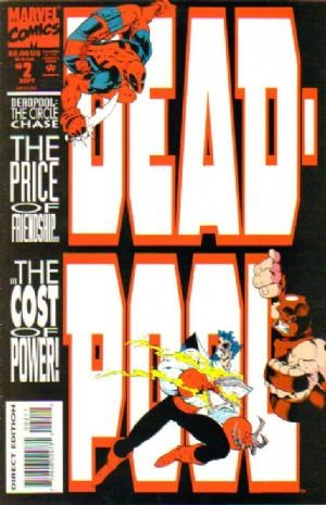 (Marvel) Cover for Deadpool: The Circle Chase #2 1st appearance of Vanessa Carlysle as Copycat.