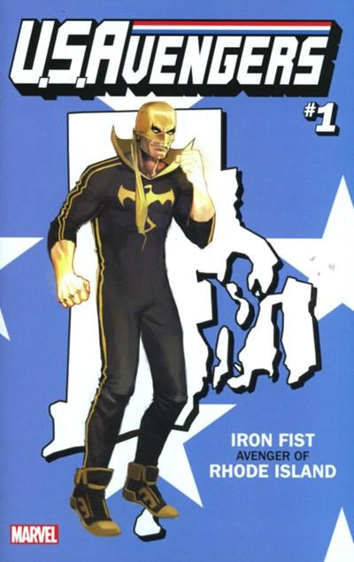 (Marvel) Cover for U.S.Avengers #1 Rod Reis Rhode Island State Variant Cover