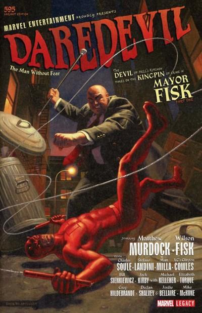 (Marvel) Cover for Daredevil #595 Greg Hildebrandt Variant Cover. Limited 1 for 100.
