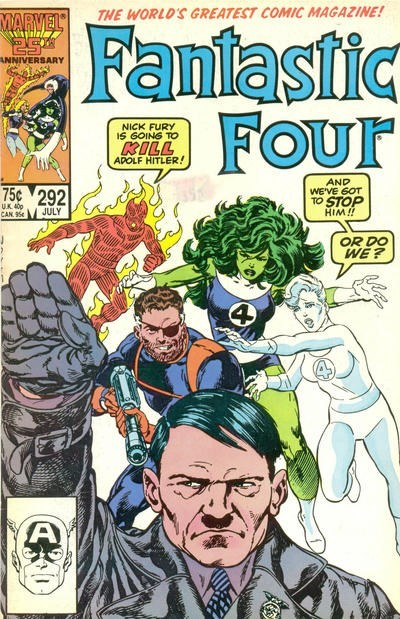 (Marvel) Cover for Fantastic Four #292 Direct Edition