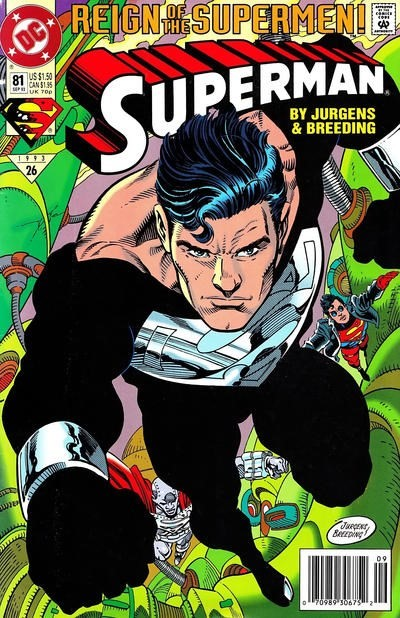 (DC) Cover for Superman #81 1st Cover Appearance for Black Suit - For 1st Appearance See Action #689