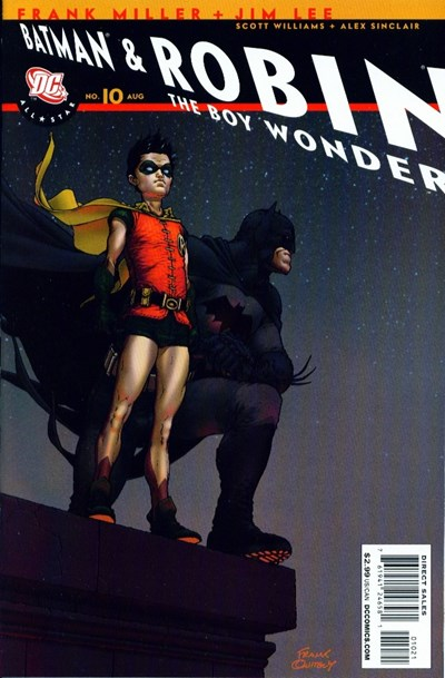 (DC) Cover for All Star Batman And Robin, The Boy Wonder #10 Uncensored Recall Edition. Incentive Frank Quitely Variant Cover