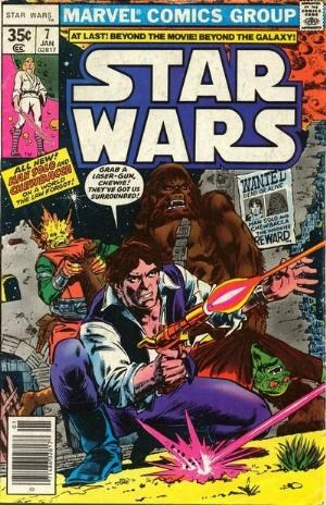 (Marvel) Cover for Star Wars #7 1st Print - 35 Cent Square Price Box