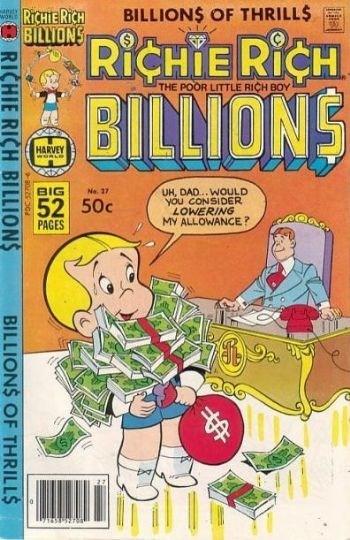 (Harvey) Cover for Richie Rich Billions #27